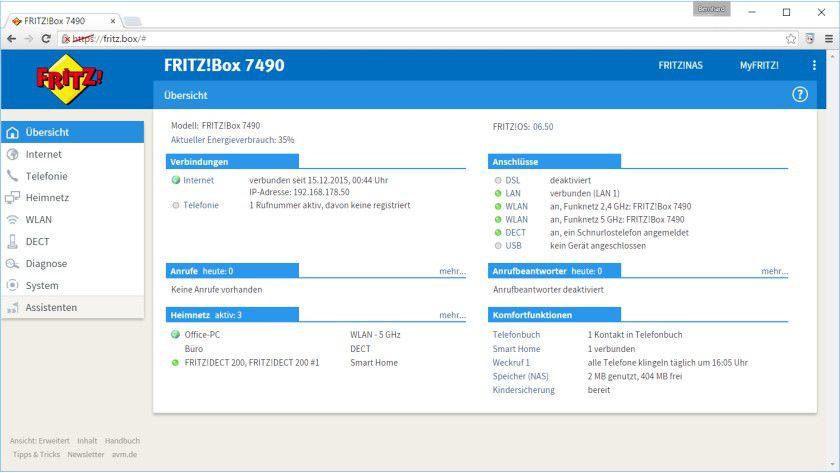 Update: Die neue Firmware Fritz!OS 6.50 der Fritz!Box 7490 kommt mit zahlreichen neuen Funktionen.