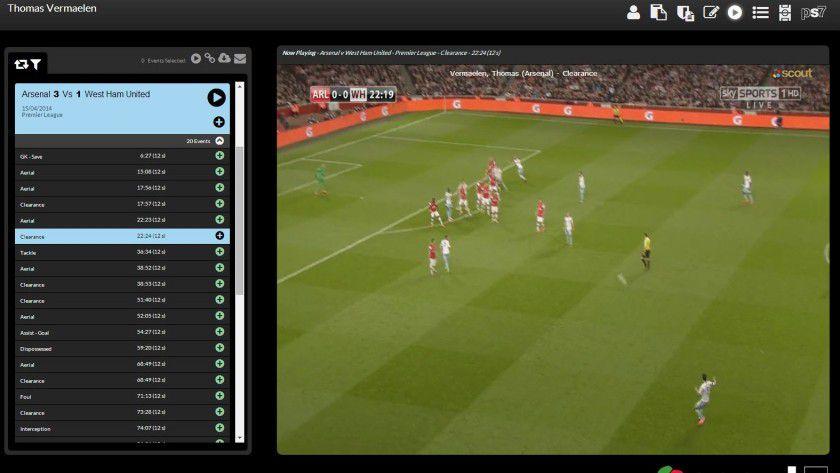 Entscheidende Spielzüge lassen sich in Scout7 per Videoclip aufrufen.