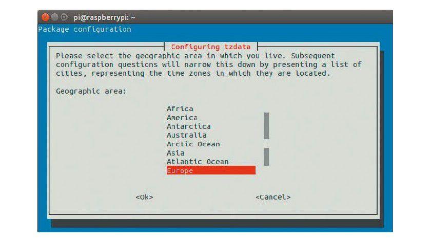 Die richtige Uhrzeit: Passen Sie die Zeitzone auf Europa und Berlin an, damit die Dateien mit dem richtigen Zeitstempel abgelegt werden.
