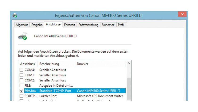 Als Alternative zum USB-Fernanschluss legen Sie in Windows einen neuen Port für die Fritzbox an und leiten anschließend die Druckaufträge an den USB-Anschluss des Routers weiter.