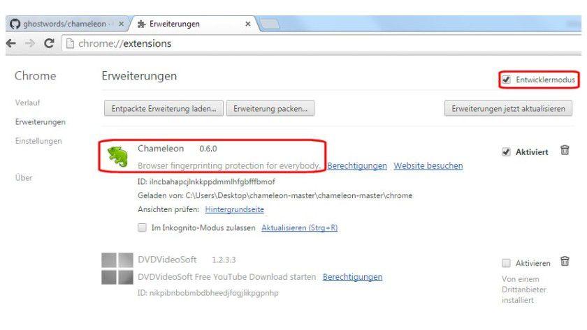 Die Chrome-Erweiterung Chameleon blockiert in der aktuellen Fassung nur einen Teil der beim Fingerprinting eingesetzten Canvas-Elemente automatisch.