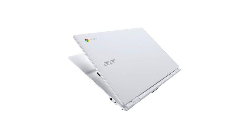 Google auf dem Deckel: Beim Chromebook bringt sich nicht nur Hersteller Acer zur Geltung