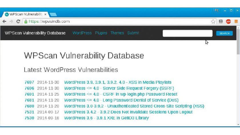 Zweischneidiges Schwert: Eine gut gepflegte Datenbank zu Lücken von Wordpress, Themes und Plug-ins hilft nicht nur Wordpress-Betreibern, sondern auch den Angreifern.