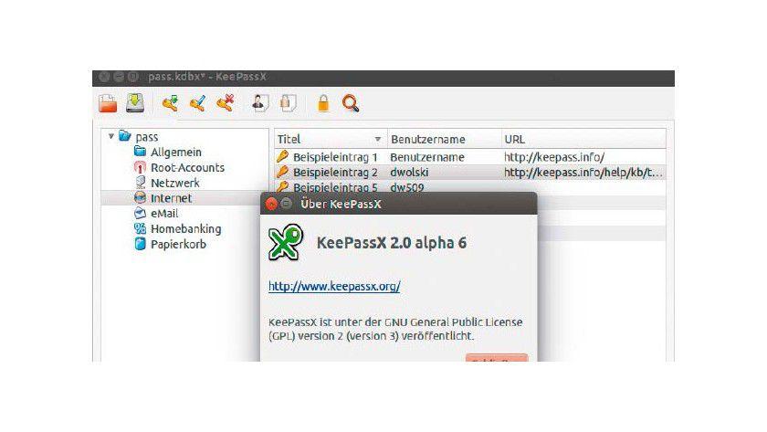 Keepass 2.0: Obwohl es sich um eine Alphaversion handelt, läuft die Weiterentwicklung von Keepass X bereits solide. Es arbeitet mit dem Format KDBX, das von Keepass 2 übernommen wurde.
