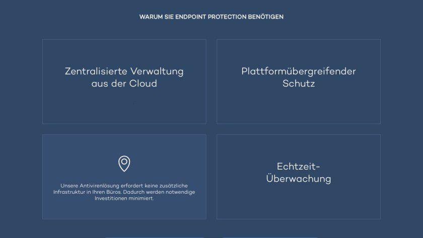 Panda verspricht Schutz für Desktop-PCs und Server, sowie für Dateien, E-Mails, Downloads (HTTP/FTP), soziale Netzwerke und Instant-Messaging-Dienste. Professioneller Firewall-Schutz für das Firmennetzwerk ist in der Security-Suite ebenfalls integriert.