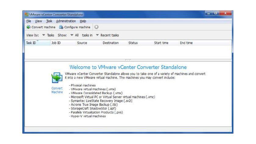 Vorischt: Um Ihren PC mit Vmware in einen virtuellen Computer zu konvertieren, benötigen Sie extrem viel Platz.
