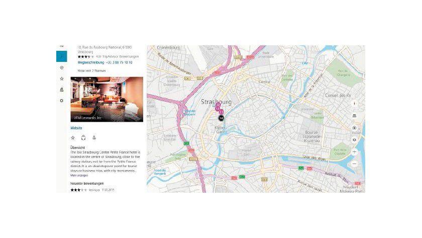 Wichtige oder nützliche Orte lassen sich direkt in der Karten-App suchen.