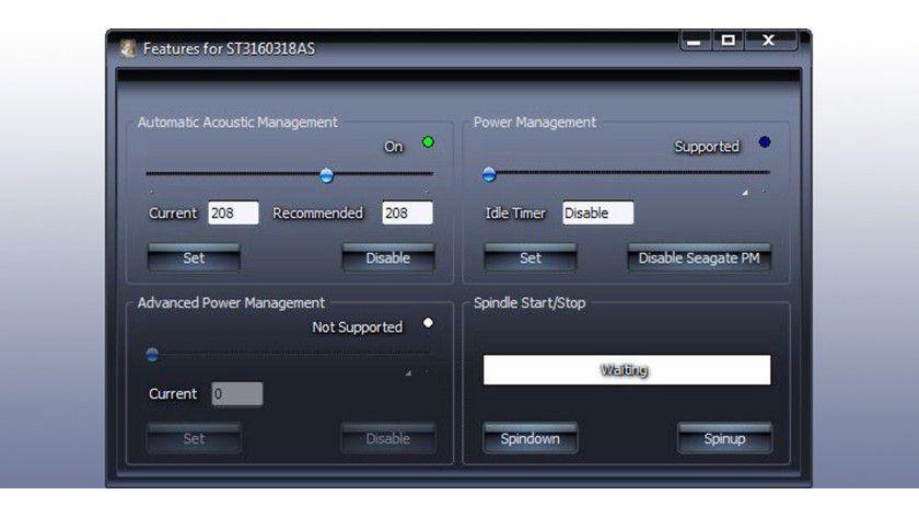 Viele ferromagnetische Festplatten können Sie leiser machen – über das Akustik-Management.