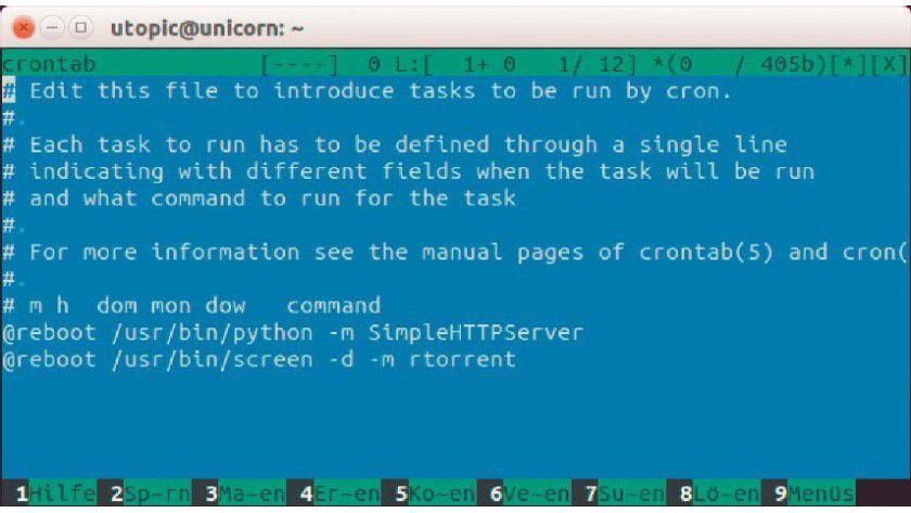 Linux job hintergrund starten