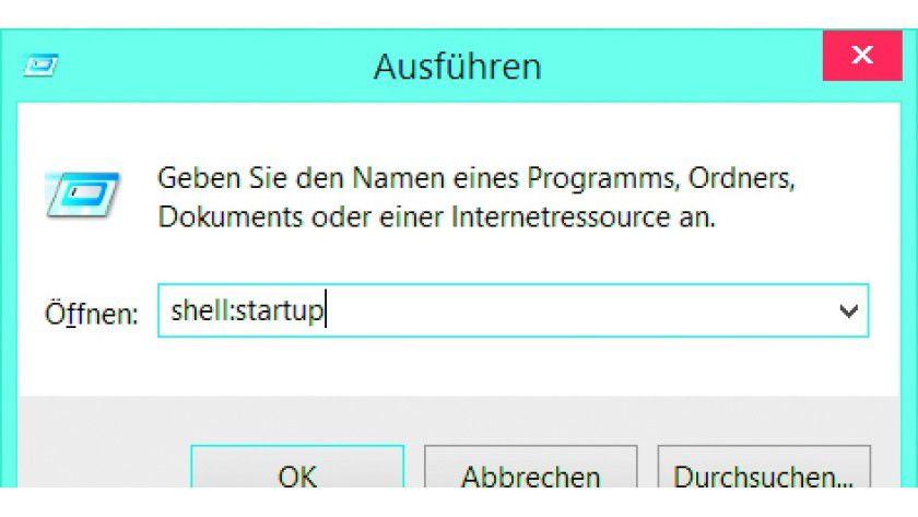 Auch in Windows 8/8.1 und 10 gibt es den Autostart-Ordner.