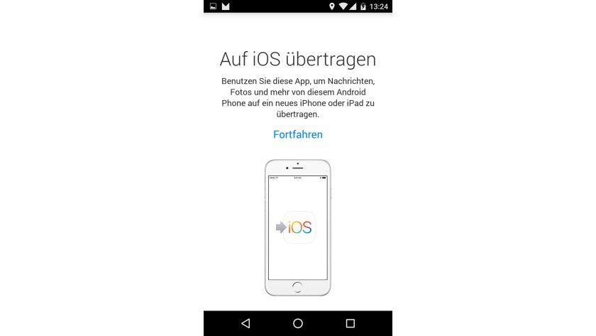 Eine Android-App hilft Anwendern beim Wechsel von Android-Smartphones/Tablets zum iPhone/iPad.