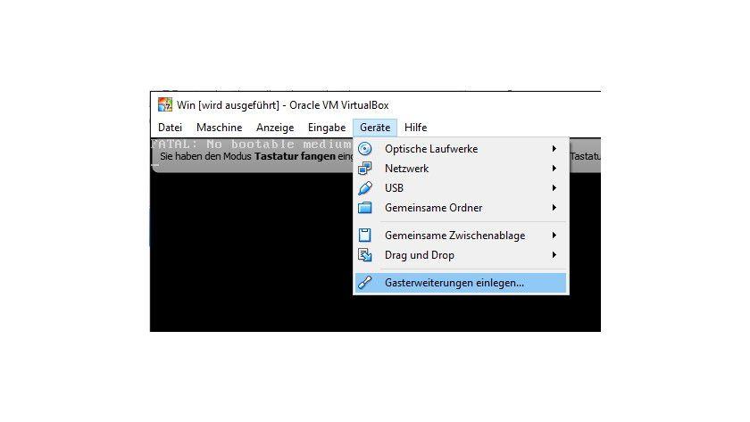 Die Gasterweiterungen verbessern die Leistung von virtuellen Windows Computern in VirtualBox deutlich.