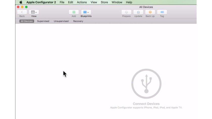 Nach der Installation des Apple Configurator 2 können Sie iOS-Geräte verwalten und vereinheitlichen.