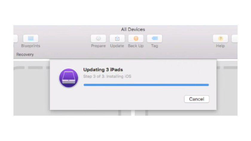 Mit dem Apple Configurator 2 können Sie auch die iOS-Version auf den angebundenen Geräten aktualisieren.
