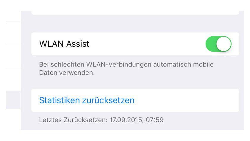 iOS 9: Die neue Funktion WLAN Assist ist standardmäßig aktiviert