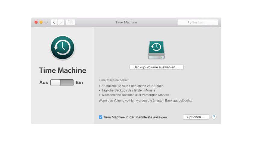 Time Machine starten