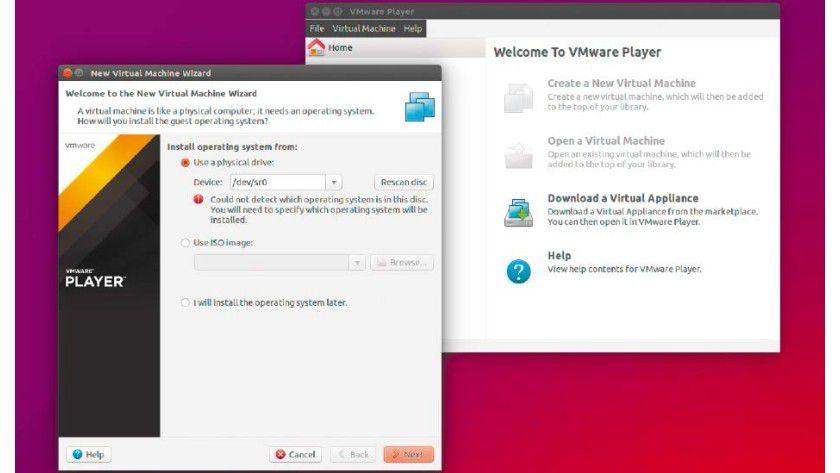 """""""Vamos a la Player"""": Vmware verdient vor allem mit virtualisierter IT-Infrastruktur und stellt den Player als funktionsreduzierte Variante der Workstation für private Anwender kostenlos zur Verfügung."""