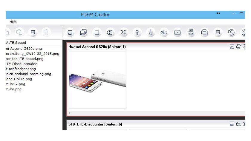 Mit wenigen Mausklick führen Sie mehrere Dateien/Inhalte zu einem PDF zusammen