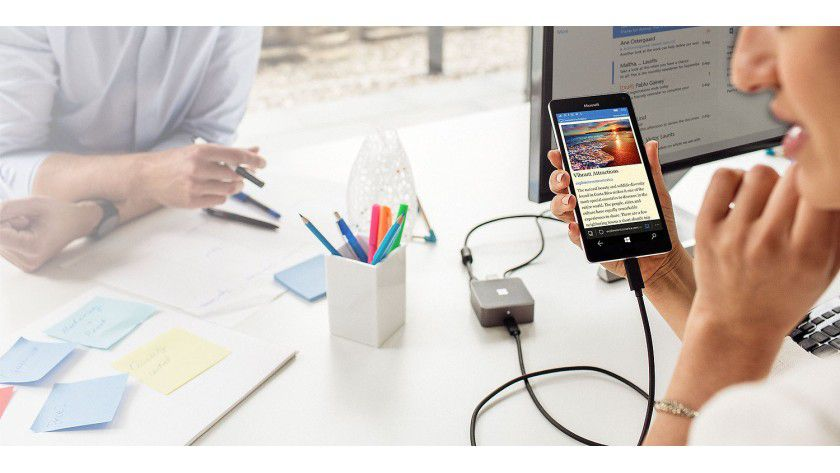 Dank USB C wird das Smartphone zum PC: Microsoft Lumia 950XL + Display Dock