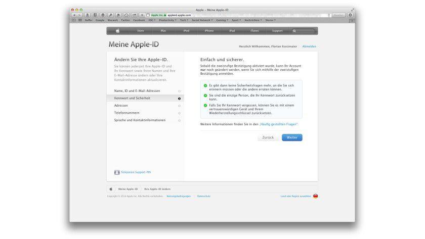 Apple id passwort vergessen neue handynummer