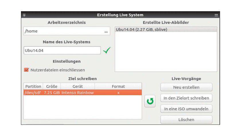 Live-System aus einem laufenden Ubuntu/Mint erstellen.