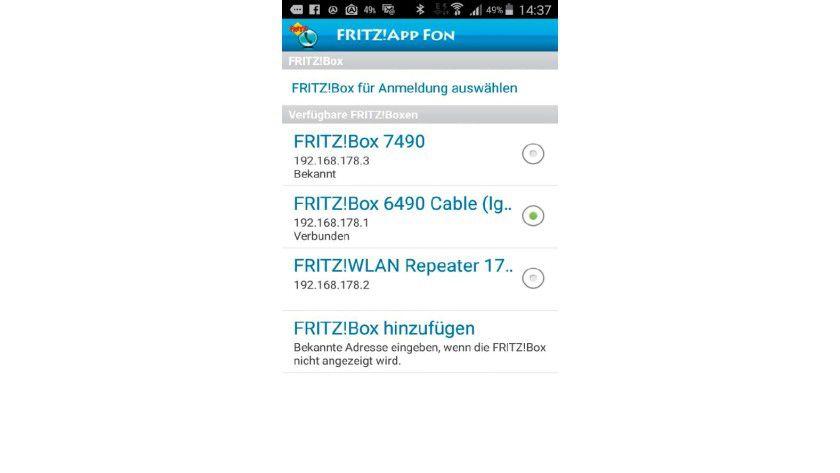 Verbindung zur Fritzbox herstellen