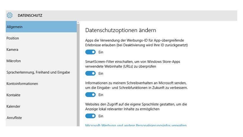 Windows 10: Hier deaktivieren Sie die Werbungs-ID