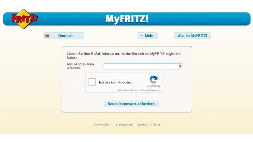 Haben Sie das Kennwort f&uuml;r den Myfritz-Dienst vergessen, k&ouml;nnen Sie Ihren WLAN-Router<BR> nicht mehr &uuml;ber das Internet erreichen.