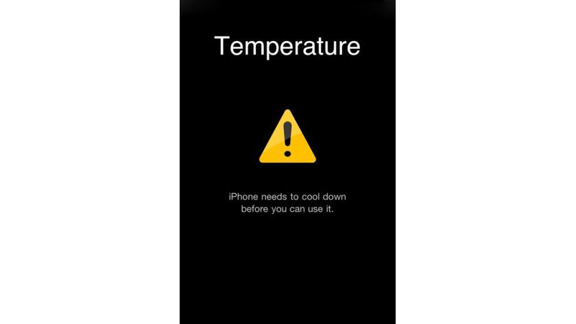 Das iPhone muss erst abkühlen, bevor es wieder benutzt werden kann.
