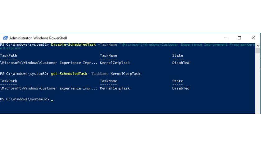 Den Status der Überwachungs-Aufgaben in Windows 10 können Sie in der PowerShell überwachen und anpassen