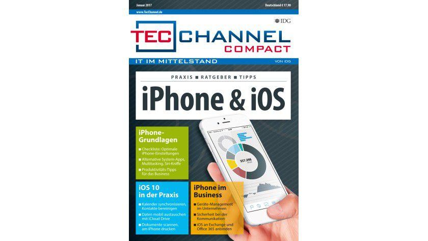 160 Seiten iPhone- und iOS-Praxis, -Grundlagen und -Ratgeber im neuen TecChannel Compact Januar 2017.