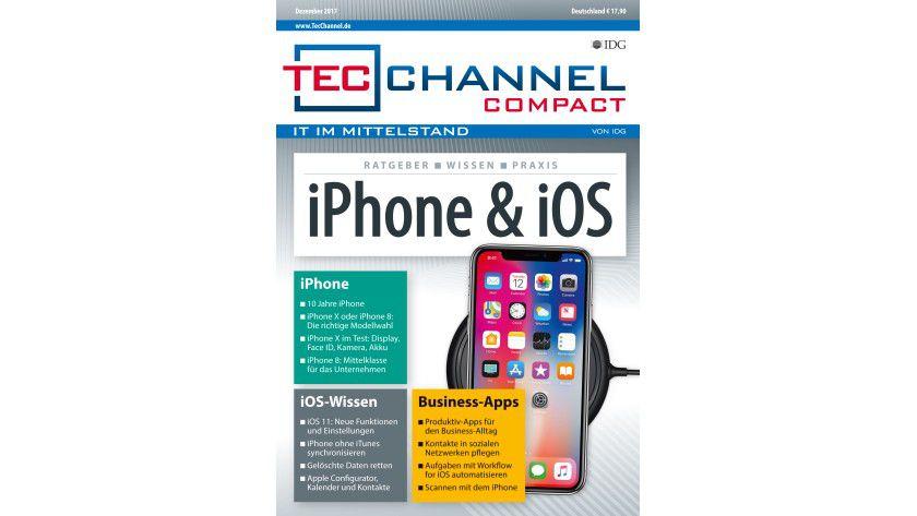 160 Seiten iPhone- und iOS-Praxis, -Grundlagen und -Ratgeber im neuen TecChannel Compact Dezember 2017.