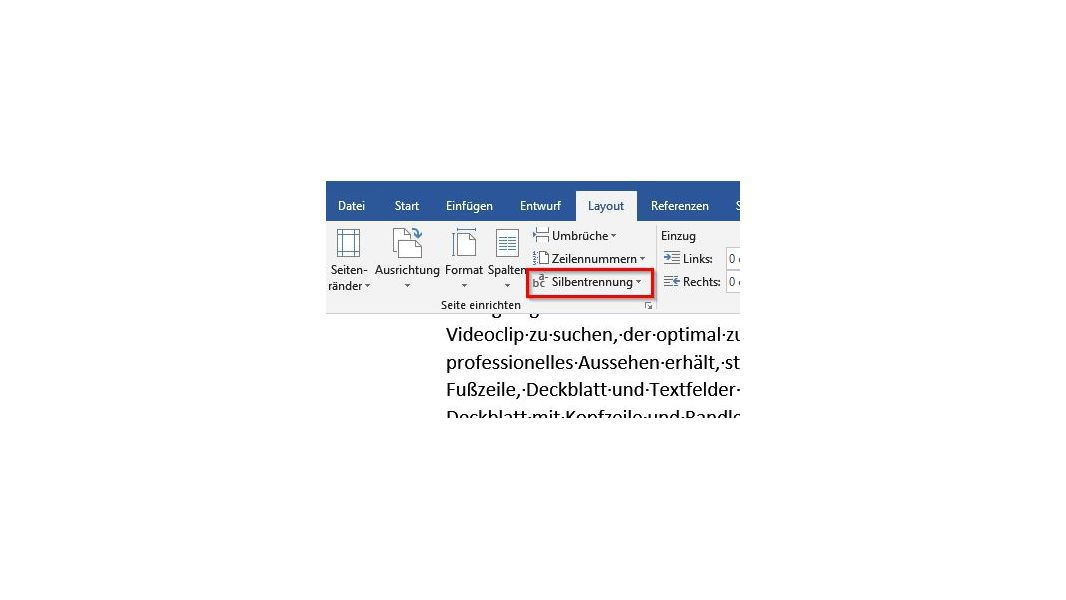 Microsoft Word 2016 Silbentrennzone Lässt Sich Nicht Konfigurieren