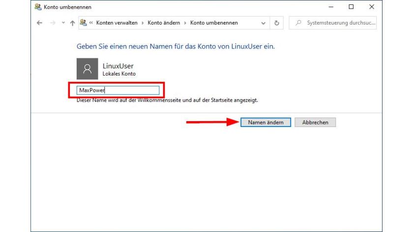 Ändern benutzernamen windows 10 Windows 10: