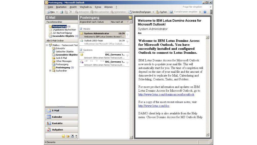 Outlook statt Notes: Mit dem passenden Connector lassen sich beide Groupware-Lösungen problemlos verbinden.