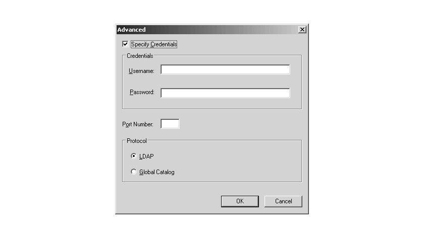 Bild 3: Die erweiterten Optionen für die Verbindungsherstellung.