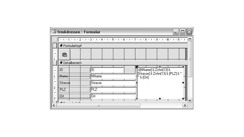 Bild 1: Formular zur Erfassung von Adressdaten.