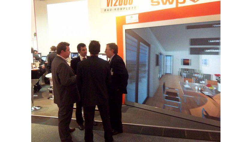 Das Fraunhofer IAO präsentiert den Prototypen zur virtuellen Bemusterung auf der Bau 2007 in München. Foto: Fraunhofer IAO