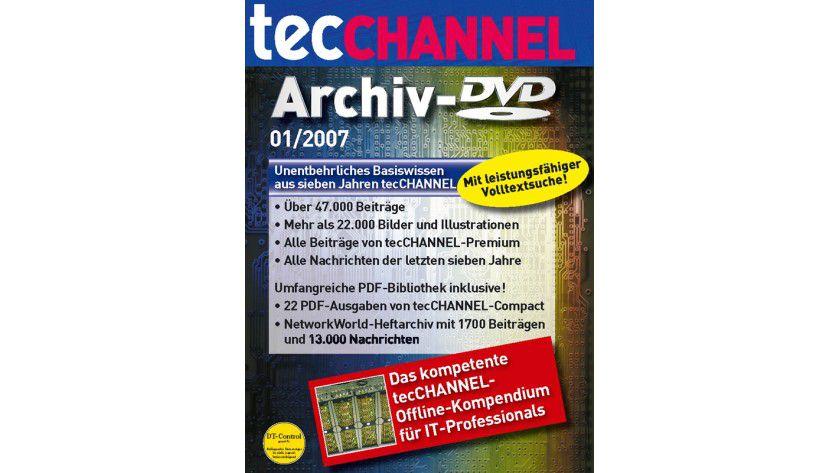 Sieben Jahre Profiwissen: Die tecCHANNEL-Archiv-DVD enthält alle Beiträge seit 1999.