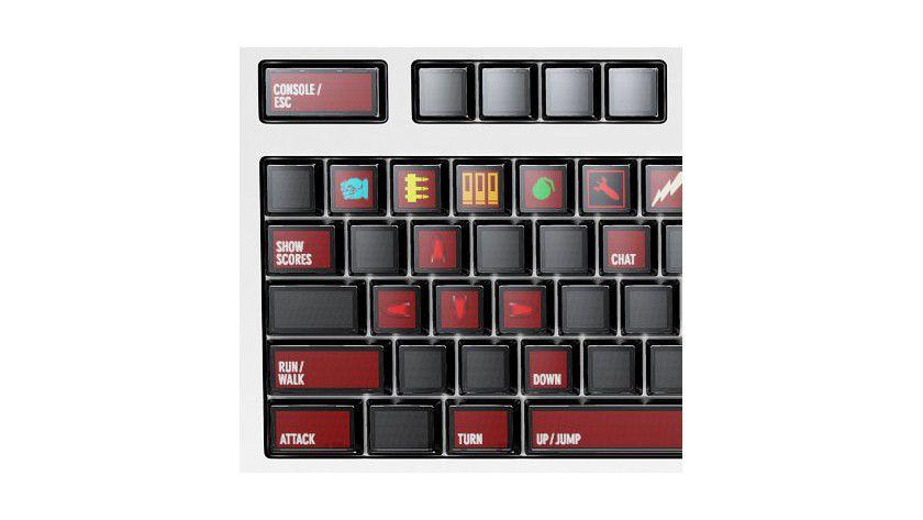 Multifunktional: Die Tastatur passt sich der gerade laufenden Anwendung an. Vorbei die Zeiten von Tastaturschablonen für Spiele.