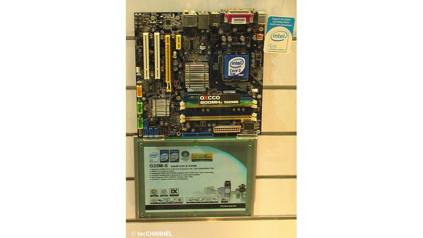 Foxconn G35: Den Chipsatz stattete Intel mit einem integrierten DirectX-10-Grafikkern aus.
