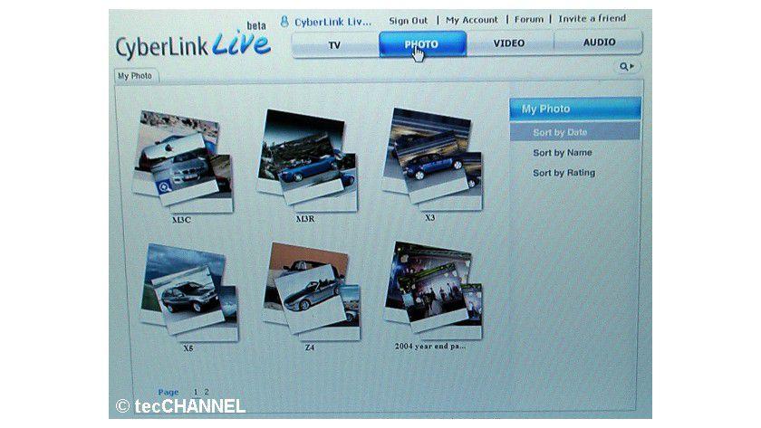Das Überall-Pantoffelkino: Mit CyberLink Live kann der Anwender weltweit übers Internet seine heimischen Multimedia-Inhalte abrufen.