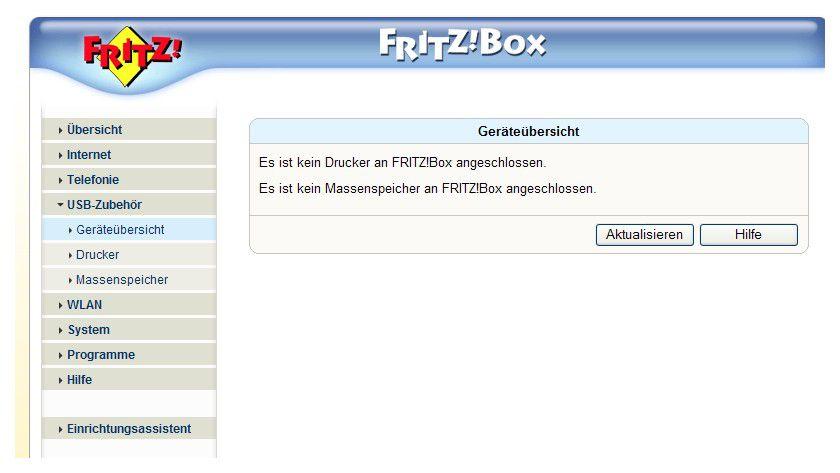 """USB-Port: Mit jedem Firmware-Update erhöht AVM auch die Kompatibilität zu Druckern und Massenspeichern am USB-Port der """"großen"""" Fritz!Box-Modelle."""
