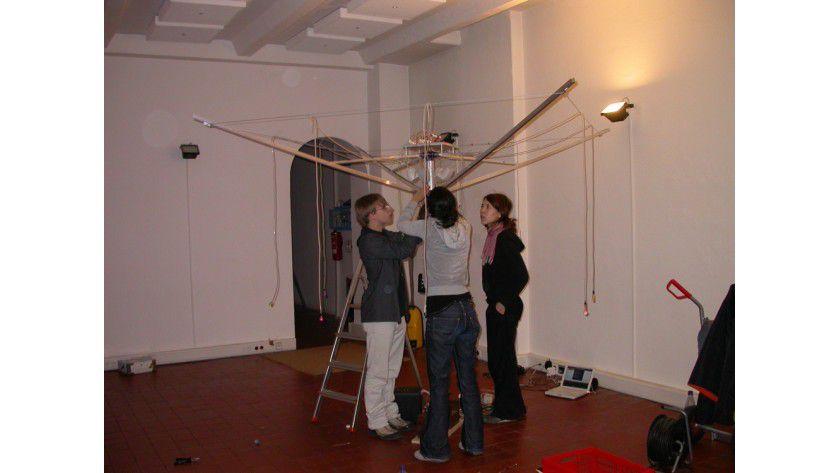 """""""Mouth Pieces"""" ist eine Installation von sieben mundgesteuerten Instrumenten. Foto: FH Potsdam"""