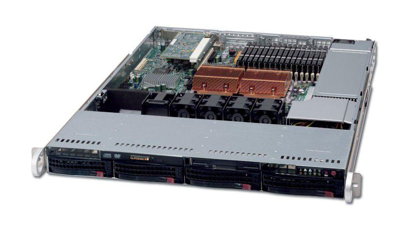 AMD-Quad-Core-System: Der Server Falcon 1431 von CPI arbeitet mit zwei Quad-Core-Opteron-CPUs. (Quelle: CPI)