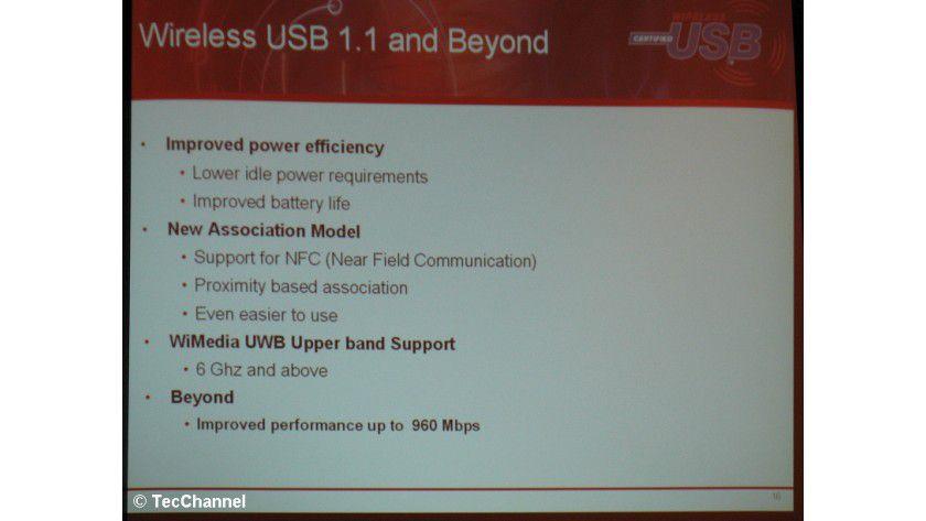 Wireless USB Update: Der Wireless-USB-1.1-Standard kommt mit zahlreichen Verbesserungen und Erweiterungen.