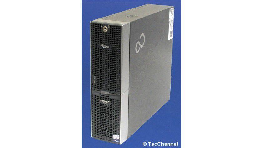 Klein und sparsam: Der Primergy TX120 ist ein kleiner energieeffizienter Tower-Server von Fujitsu Siemens.