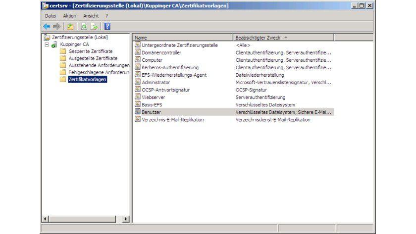 Zertifikatvorlagen - So verwalten Sie Zertifikate mit Active ...