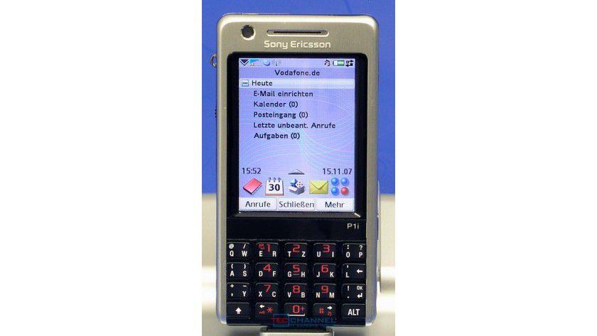 P1i: Der Hauptschirm bietet einen Schnellzugriff auf die wichtigsten Funktionen.
