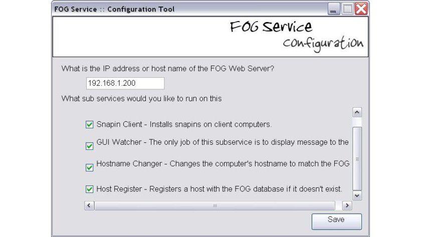 Installation des Windows-Dienstes - FOG: Windows-Partitionen klonen